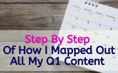Step By Step Of How I Mapped Out All My Q1 Content